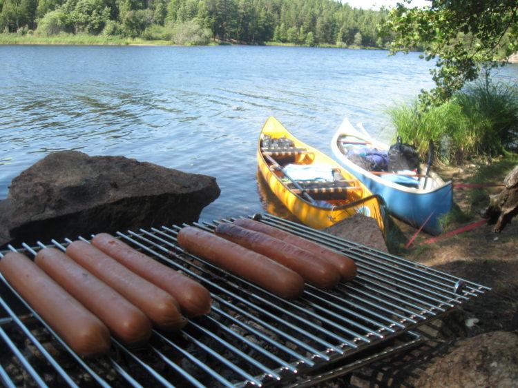 Vakantie Zweden Tips - Kano's en grillen