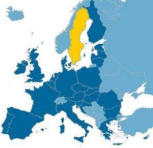 Zweden landkaart - Vakantie Zweden Tips