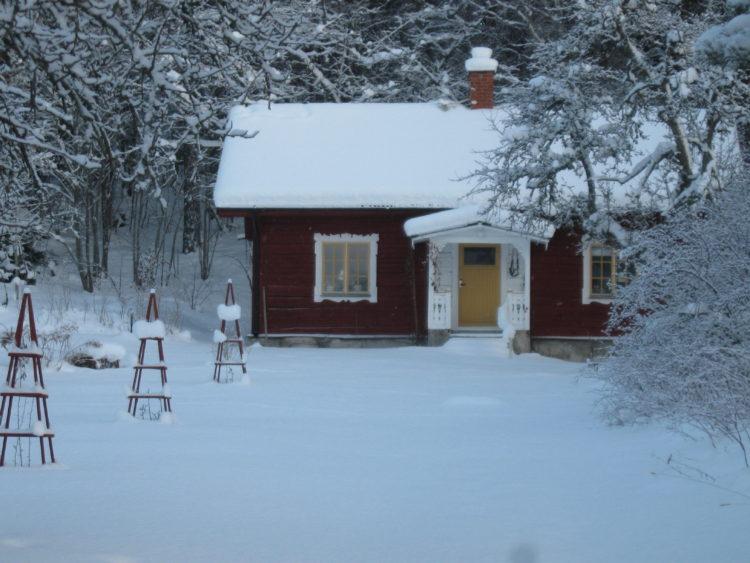 Vakantie Zweden Tips - Stuga in de sneeuw